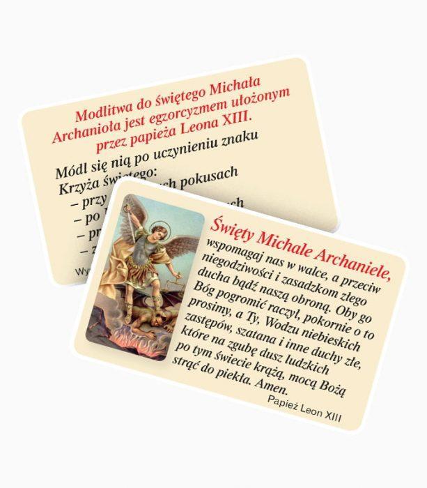Obrazek z modlitwą do Świętego Michała Archanioła