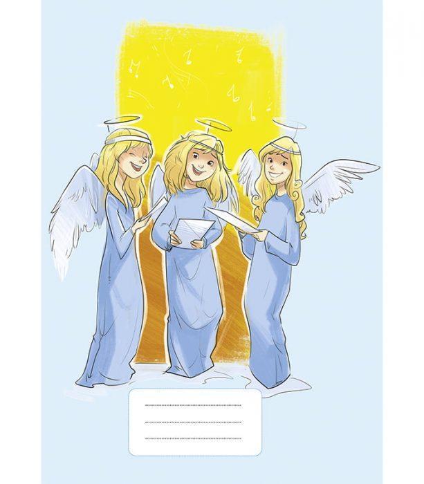 Zeszyt z Aniołami (niebieski)