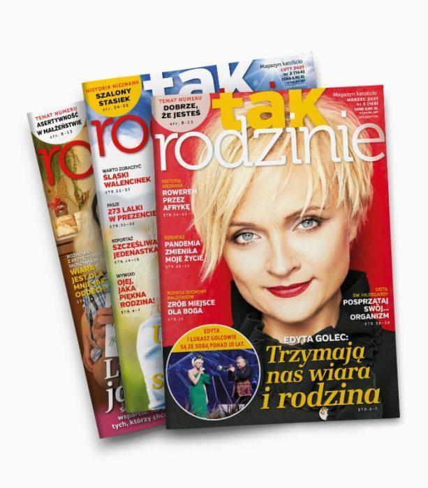 Prenumerata miesięcznika TAK RODZINIE 2021