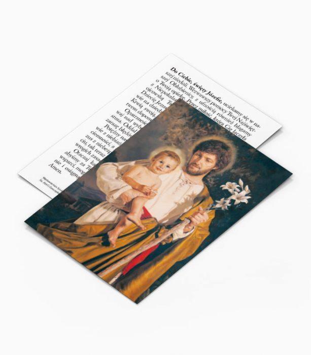 Obrazek z modlitwą do Świętego Józefa