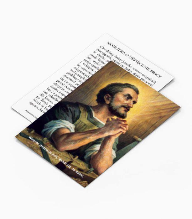 Obrazek z modlitwą o uświęcenie pracy