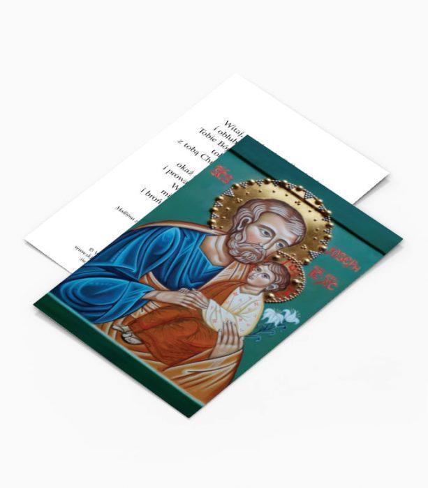 Obrazek z modlitwą do Świętego Józefa Ojca Świętego Franciszka (JO11)