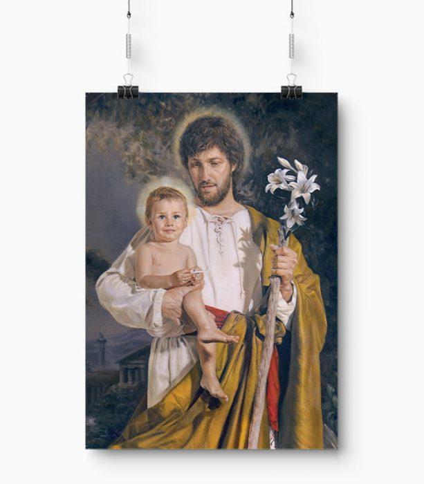 Plakat Zawierzenie Rodziny Świętemu Józefowi